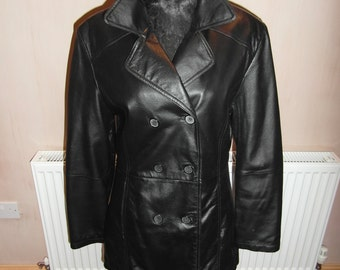 Leather Jacket - Ladies double breasted.  UK SHIPPING ONLY.