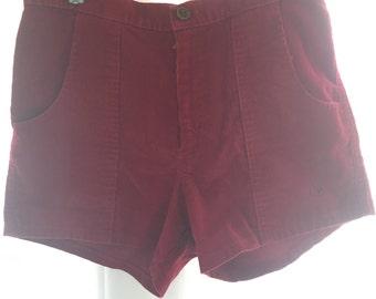 Vintage OP Shorts Red Corduroy