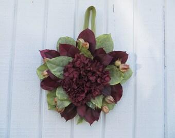 Dried Flower Wreath, Salal Wreath, Hydrangea Wreath, Handmade Wreath