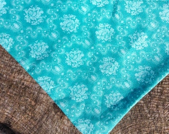"PRE-MADE - ""Tantalizing Teal"" Pet Bandana - size XS"