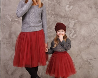 AIRSKIRT Marsala colour Familly Look