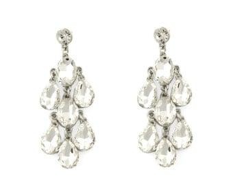Crystal Chandelier Bridal Wedding Earrings