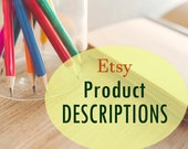 Etsy Custom Product Descriptions! 1, 5, or 10 listings! Up to 300 words each! Etsy writing help, Item details, Copywriting, Keywords,  Sales