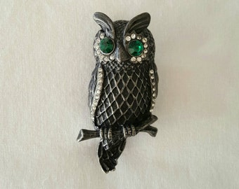 Jeweled owl pin
