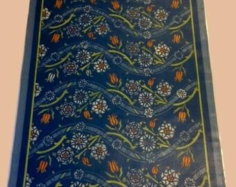Orange Tulip & Blue Floorcloth