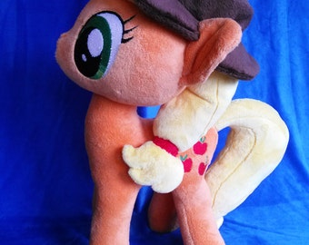 Applejack My Little Pony Plush FREE first class U.S. shipping  17 inches tall Minky