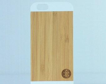 White iPhone 6 raw bamboo