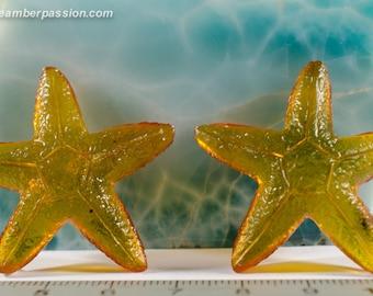 Dominican Amber Carvings - Original Sea Stars