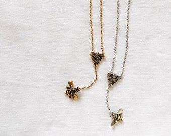 Manchester Bee Necklace