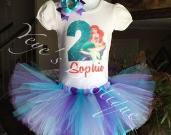 Little Mermaid Second Birthday Tutu | Ariel Second Birthday Tutu | 2nd Birthday Tutu | Mermaid Birthday Tutu | Second Birthday Outfit
