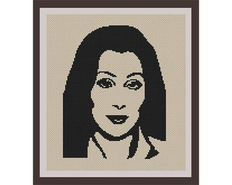 Cher Counted Cross Stitch Pattern. PDF Instant Download. Begginers Pattern.