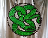 Serpent (color options) - Stained Glass - Handmade