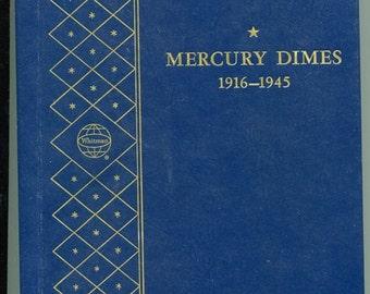 Whitman #9413 Mercury Dime Coin Album 1916-1945