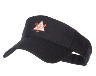 All Seeing Eye Embroidered Sun Visor
