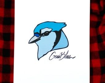 Bird poster blue jay - poster bird