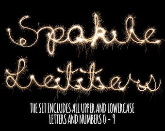 BOGOF, Sparkler Letters and Numbers Photoshop Overlays,  Photoshop Overlays, Sparklers Overlays, Wedding Sparklers Overlay, Instant Download