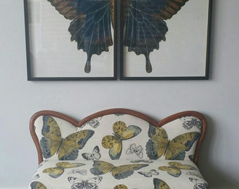 2 Piece Butterly Framed Art Overall size 48 x 30