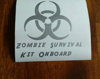 Zombie survival decal