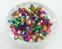 200pcs Mixed colors Acrylic tube beads For Rainbow Rubber Bands Loom Bracelet DIY Free Shipping