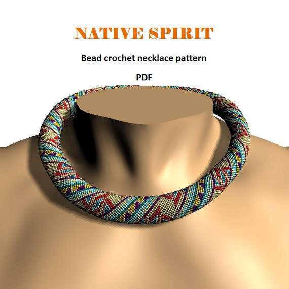 Mens Native American Beads: Native Spirit. Bead Crochet Rope Pattern PDF Pattern DIY