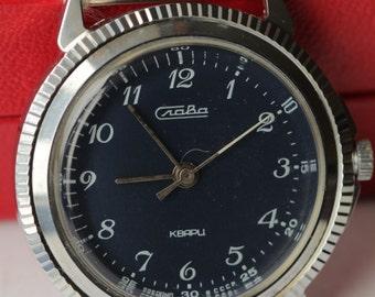NEW!Soviet watch. Vintage watct. soviet watch.Slava.Quartz.