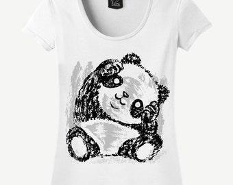 Cute Panda T-shirt, Cute Panda Shirt, Panda T-shirt, Panda Shirt, Cute T-shirt, Cute Shirt, Gift For Her, Women's T-shirt, Women's Shirt