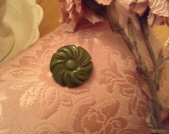 Pretty Vintage Carved Bakelite Flower Pin