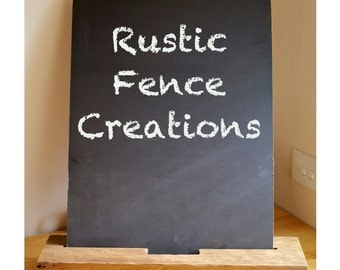 Rustic Chalkboard (large/light) with Stand/Holder, Rustic Fence Post Chalkboard (B6)