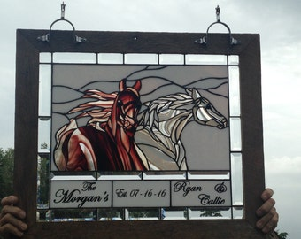 Horse Stained Glass  -  NFS