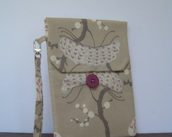 Beige and Soft Pink Tree Pattern Kindle Case / Cover / Sleeve