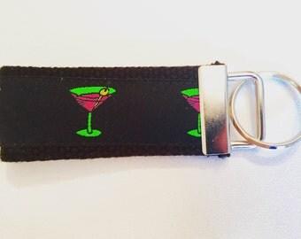 Martini Glass Key Fob