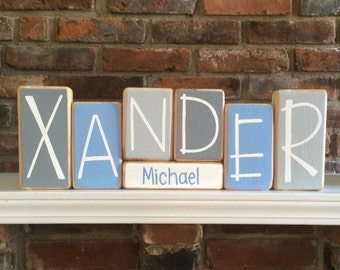 Baby name blocks etsy baby name blocks personalized baby gift negle