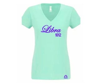 Birthday Shirt-Women's Zodiac Libra Personalized T-Shirt/Tee