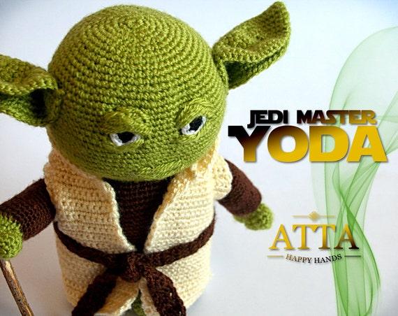 Jedi Master Yoda Amigurumi Pattern : Yoda Star Wars Amigurumi Ready to ship Star by AttaHappyHands