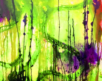 Abstract Giclee print from original acrylic painting