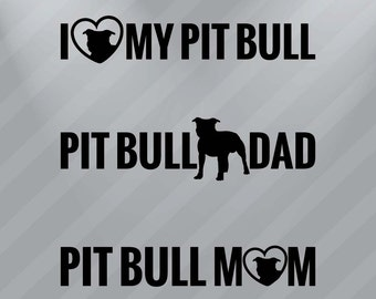 Pit Bull Decal Vinyl Sticker