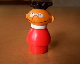 Vintage Fisher Price Little People Sesame Street character Ernie