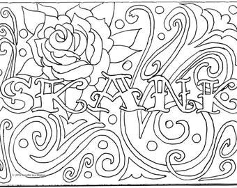 skank coloring page