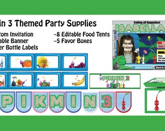 Pikmin 3 Themed Party Supplies