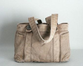 Brown Denim Shoulder Bag
