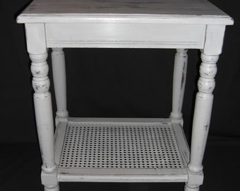 Side table in clay brown, shabby chic distressed