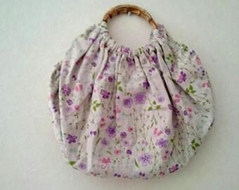 Flower printed bag