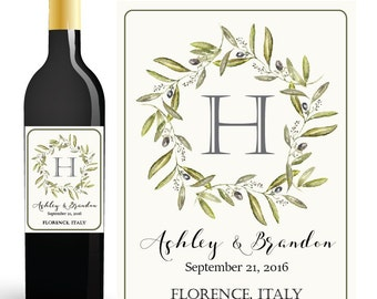 Wedding WINE BOTTLE LABEL, Custom Wine Labels Wedding, Wedding Wine Labels, Custom Wine Labels, Wedding Monogram, Reception Decorations