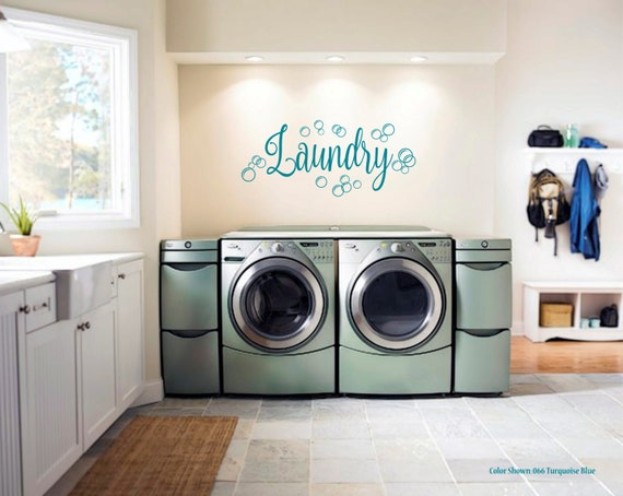 Laundry Bubbles laundry decal vinyl wall quotes by ...