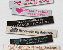 """100 Personalized Sewing Labels - 1/2"""" Wide, 100% Woven!"""