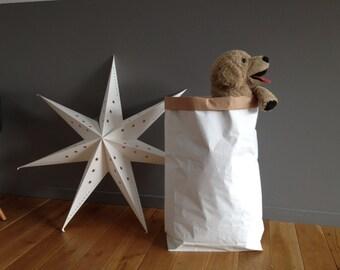 Lot de 5 Sacs Papier Kraft GRAND FORMAT pour déco ou rangement, à customiser, décorer, utiliser partout ! H80cm x L57cm x Fond16cm