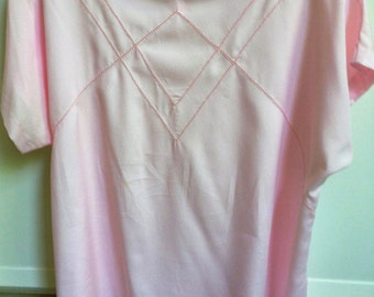 Vintage Classic Pink Caplan Sleeve Blouse