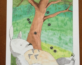Totoro Illustration