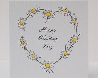 Wedding Card 'Daisy Chain'