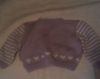 baby sweater, lilac